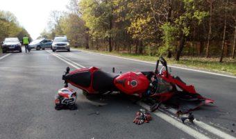 Jamnica: Zderzenie motocykla z samochodem osobowym.