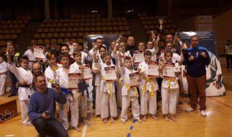 Chełm: Medale sandomierskich karateków.