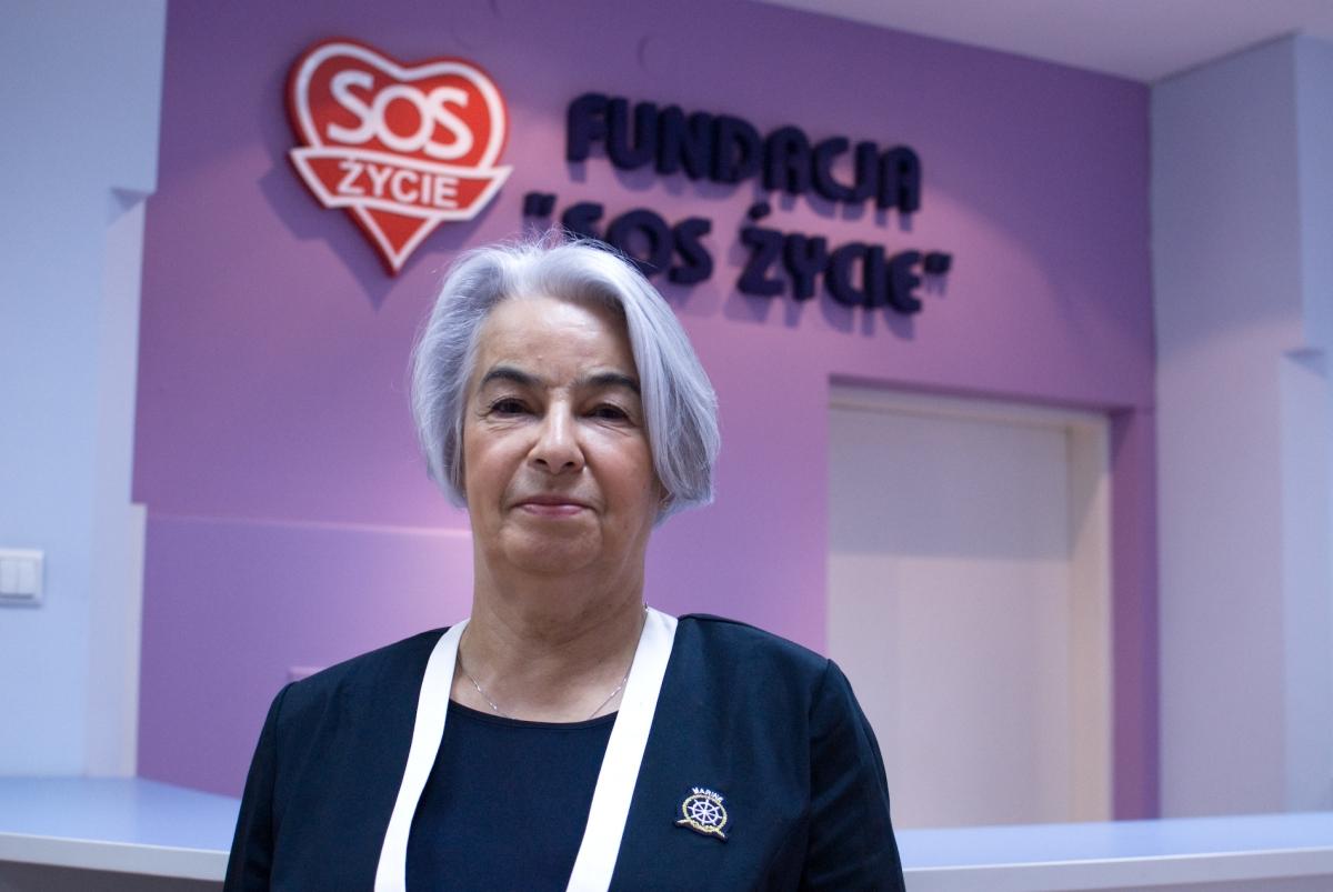Łucja Bielec z Fundacji SOS Życie